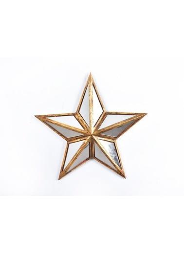 Selim Star Aynalı Pano Büyük Boy Altın Tekli Renkli
